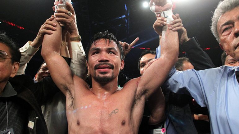 Manny Pacquiao calls out Floyd Mayweather after Algieri beating
