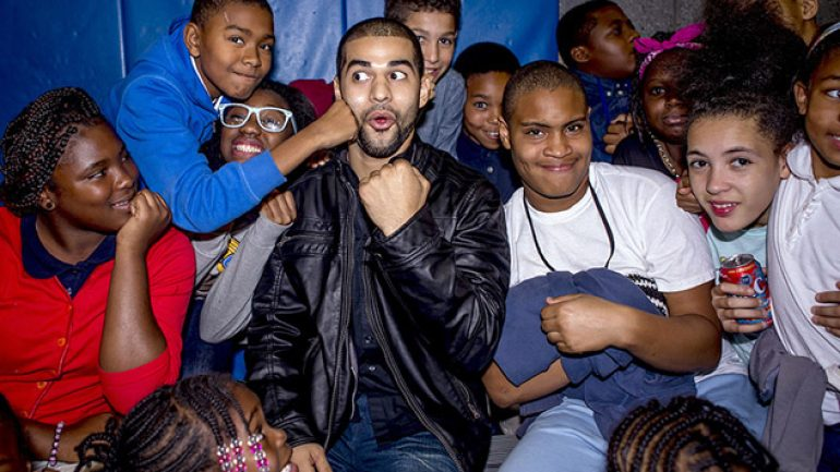 Photo gallery: Sadam Ali and Luis Abregu visit Boys and Girls Club