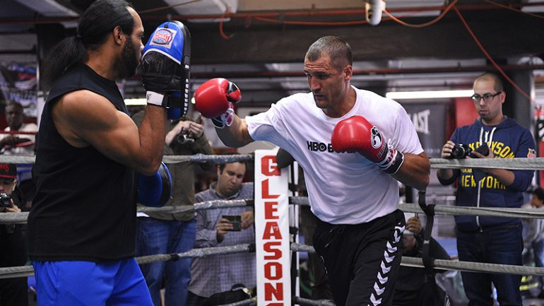 Sergey Kovalev meets son; trainer says 'Father Time' caught up to Hopkins