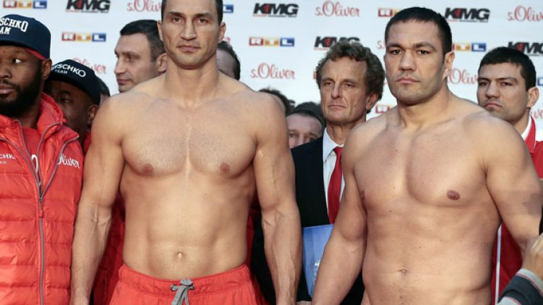 Wladimir Klitschko-Kubrat Pulev weigh in for Saturday