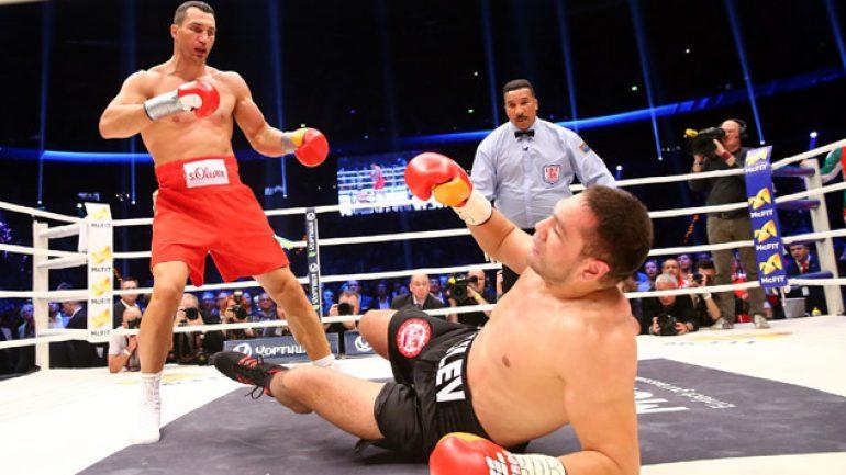 Wladimir Klitschko knocks out Kubrat Pulev in Round 5