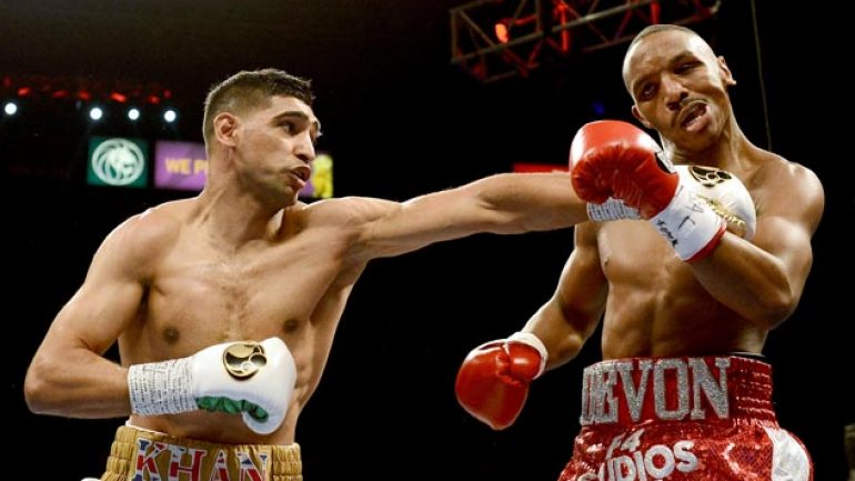 Amir Khan: 'I will give Kell Brook that much of a beating'