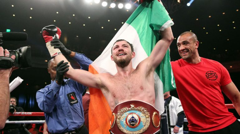 Andy Lee wins WBO title with sixth-round TKO of Matt Korobov