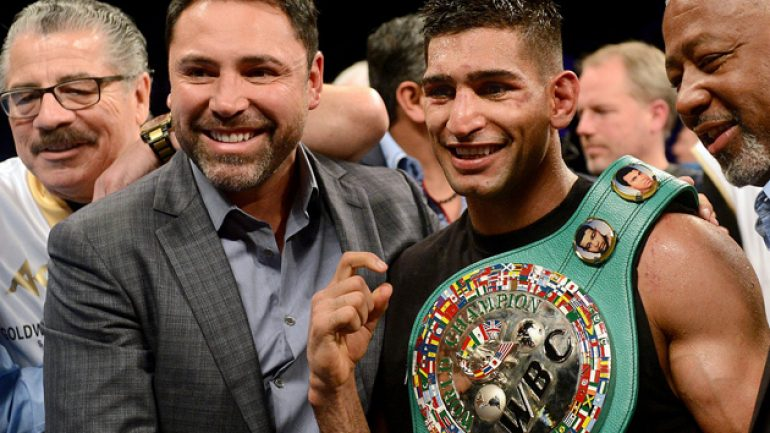 De La Hoya: Amir Khan is on Mayweather and Pacquiao's level