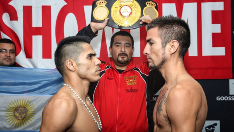 Jesus Cuellar-Ruben Tamayo weigh-in results