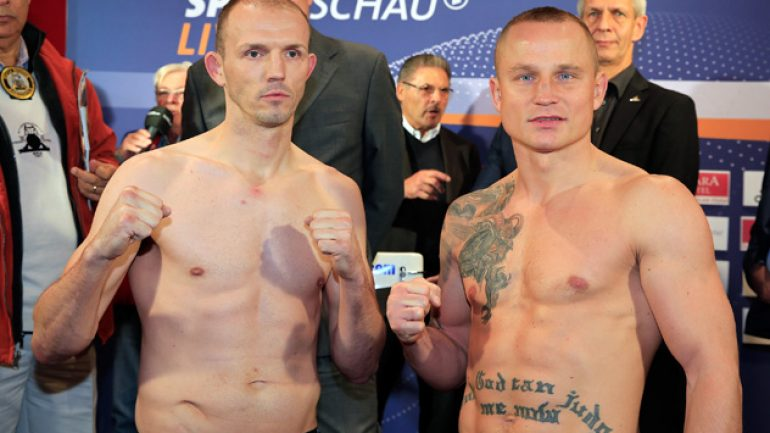 Juergen Braehmer 173.3 pounds, Pawel Glazewski 173.3