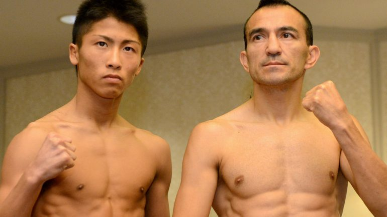 Photo gallery: Omar Narvaez-Naoya Inoue weigh-in