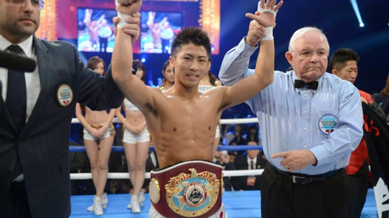 Naoya Inoue takes down Omar Narvaez with second-round KO