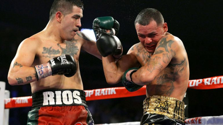 Welcome back 'Bam Bam' Rios, thank you Mike Alvarado