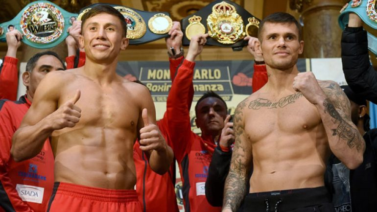 Photo gallery: Gennady Golovkin-Martin Murray weigh-in