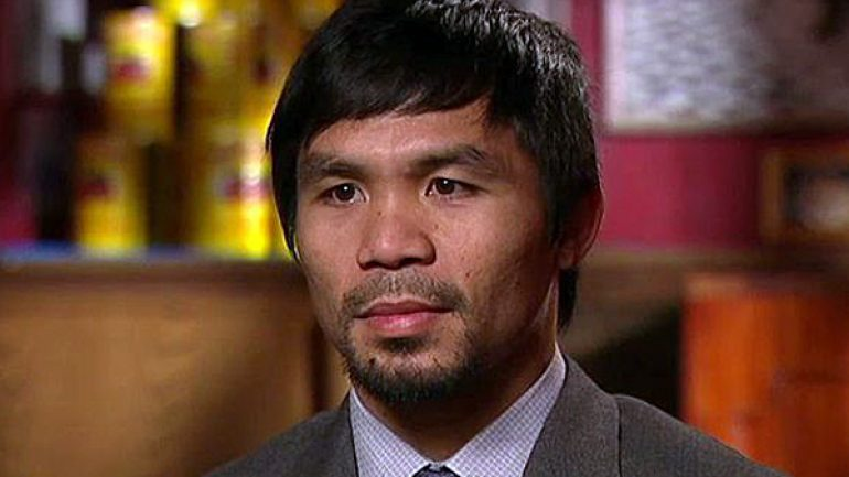 Pacquiao on Mayweather Jr.: 'I'm thinking that the fight will happen'