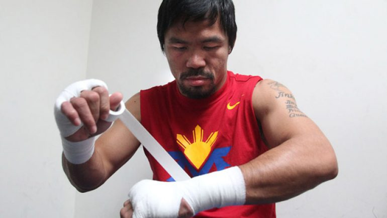 Photo gallery: Manny Pacquiao at the Wild Card