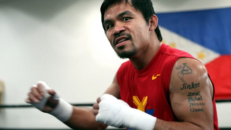 Photo gallery: Manny Pacquiao working out at the Wild Card