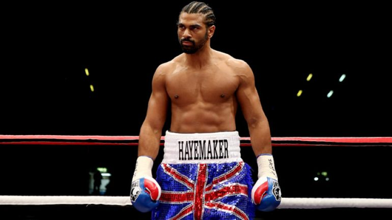 David Haye would accept undercard fight for comeback