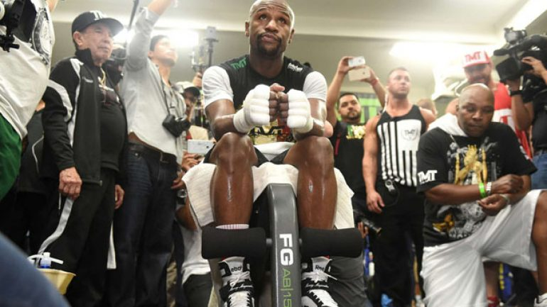 Showtime Sports to stream Floyd Mayweather Jr. media workout