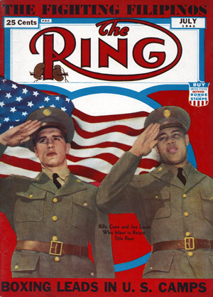 Ring Magazine Cover - Billy Conn and Joe Louis