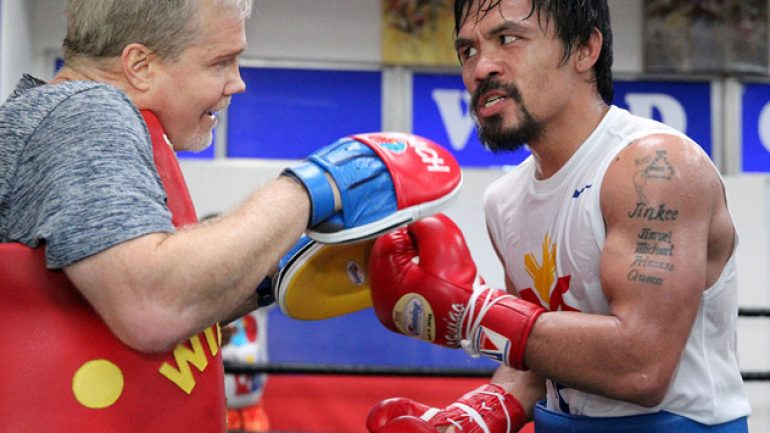 Roach: 'I really think Manny is punching harder than ever'
