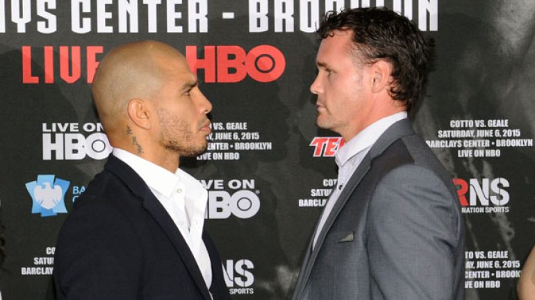 Miguel Cotto and Daniel Geale face off in NYC