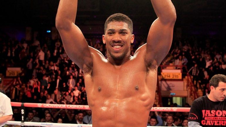 Anthony Joshua now 11 wins, 11 knockouts