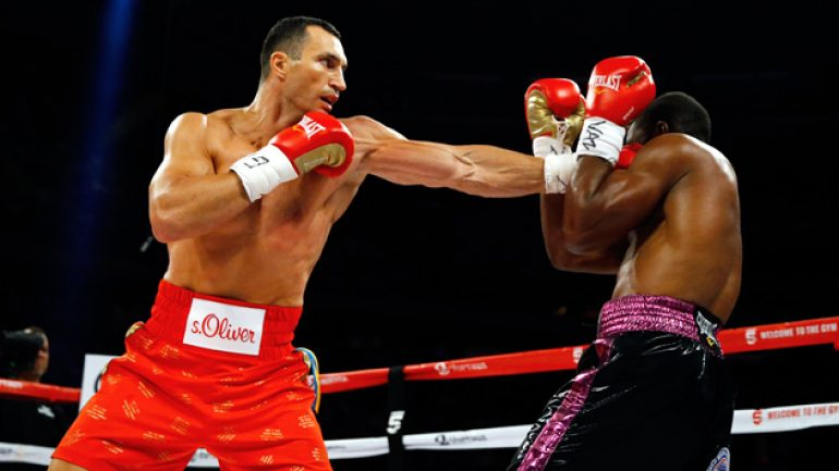 Will anyone ever tip the Wladimir Klitschko cart again?