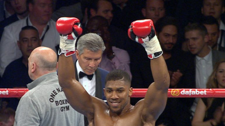 Anthony Joshua crushes Kevin Johnson in two rounds