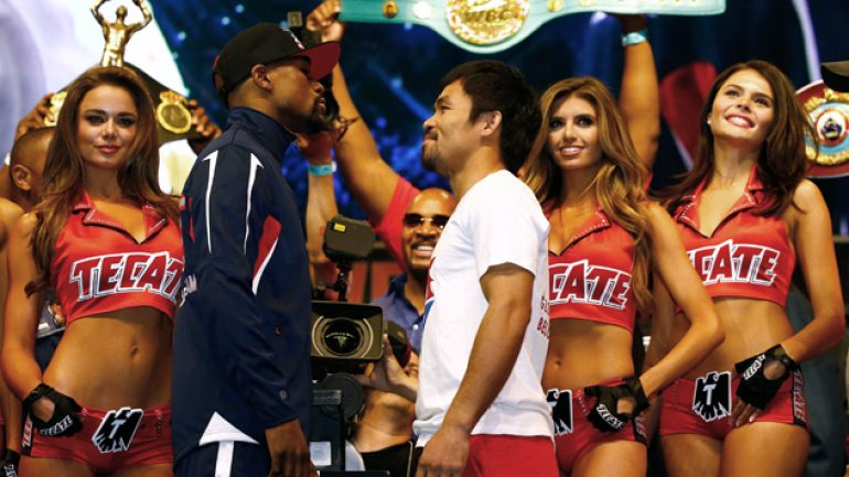 Weigh-in results: Floyd Mayweather Jr. vs. Manny Pacquiao