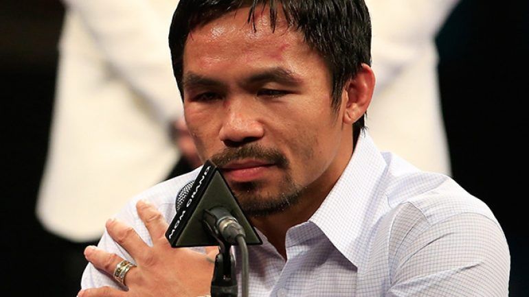 Pacquiao's loss is two fans' crack at a gain