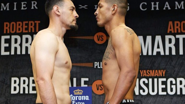 PBC on NBC weigh-in results