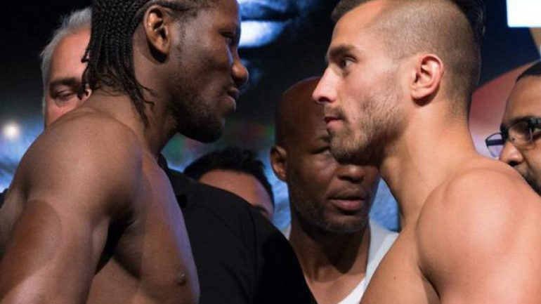 Lemieux-N'Dam weigh-in results and final bout sheet