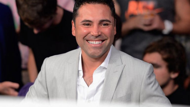 Oscar De La Hoya: 'I definitely have my eye on Washington D.C.'