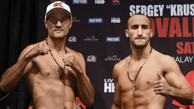 Photo gallery: Sergey Kovalev-Nadjib Mohammedi weigh-in