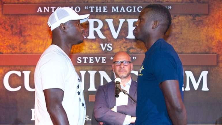 Antonio Tarver-Steve Cunningham final presser photo gallery