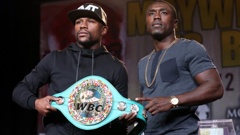 Mayweather-Berto media day delivers hype and then some