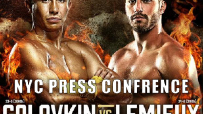Watch live stream of Golovkin-Lemieux New York City press conference