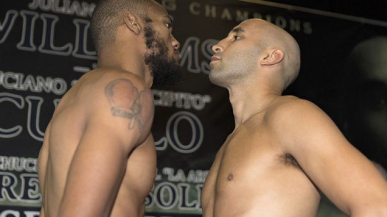 Julian Williams-Luciano Cuello PBC weigh-in results and photos