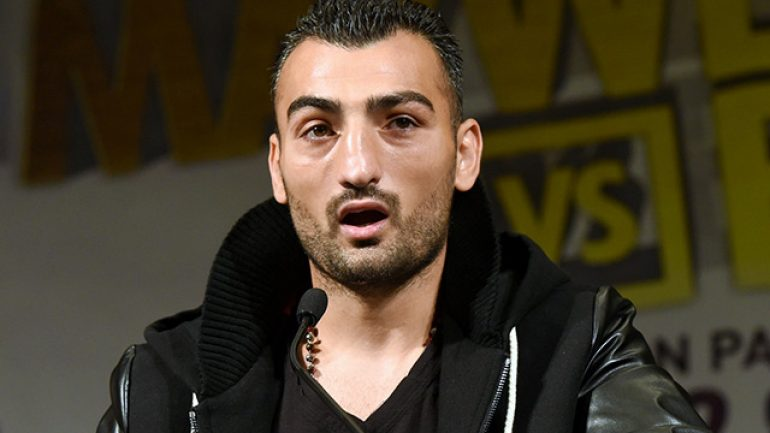 "Vanes Martirosyan: ""I'm ready to put on show"""