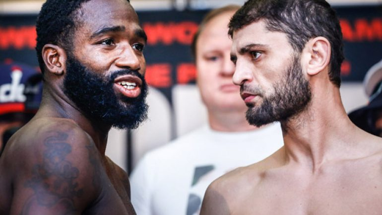 Adrien Broner-Khabib Allakhverdiev weigh-in results and photos