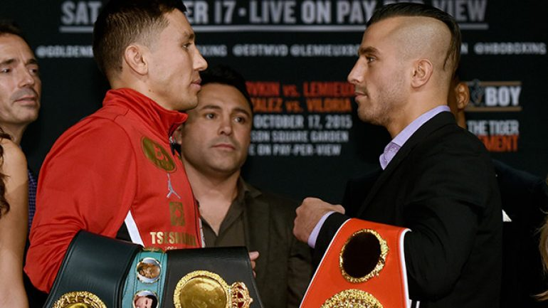 Watch the live Golovkin-Lemieux weigh-in stream