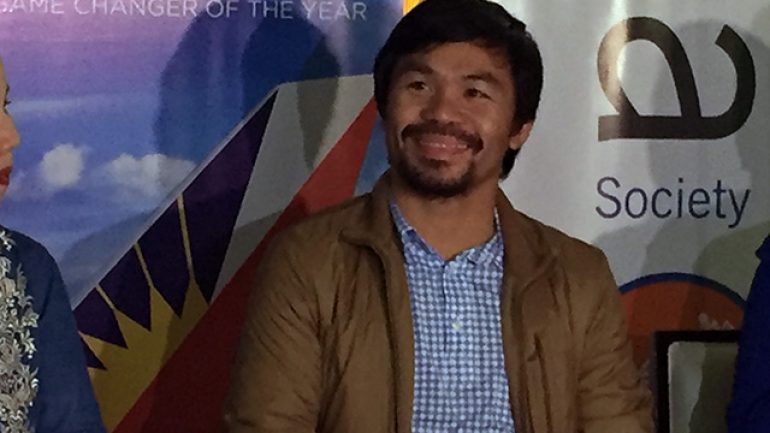 Pacquiao denies that he spoke to Mayweather about rematch