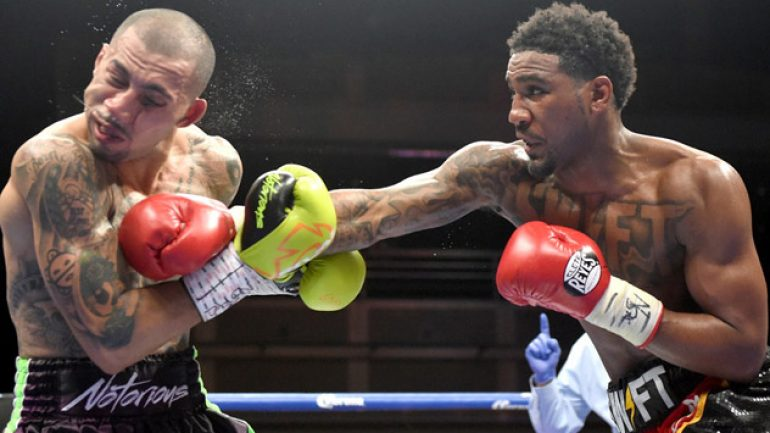 Jarrett Hurd stops Oscar Molina in the tenth round after dropping him