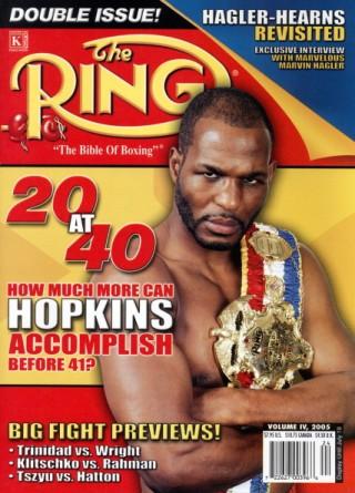 Ring Magazine Cover - Bernard Hopkins