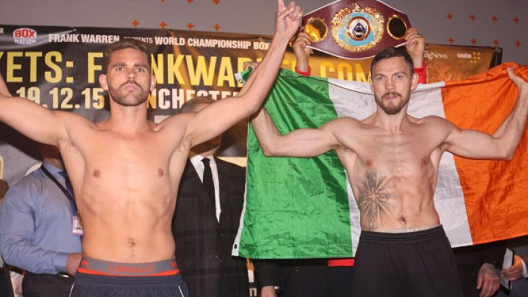 Billy Joe Saunders outpoints Andy Lee to win WBO 160-title