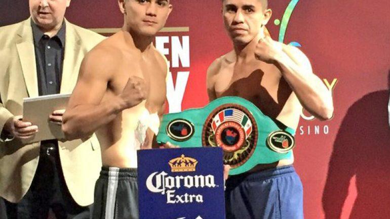 Joseph Diaz Jr.-Hugo Partida final bout sheet with weights
