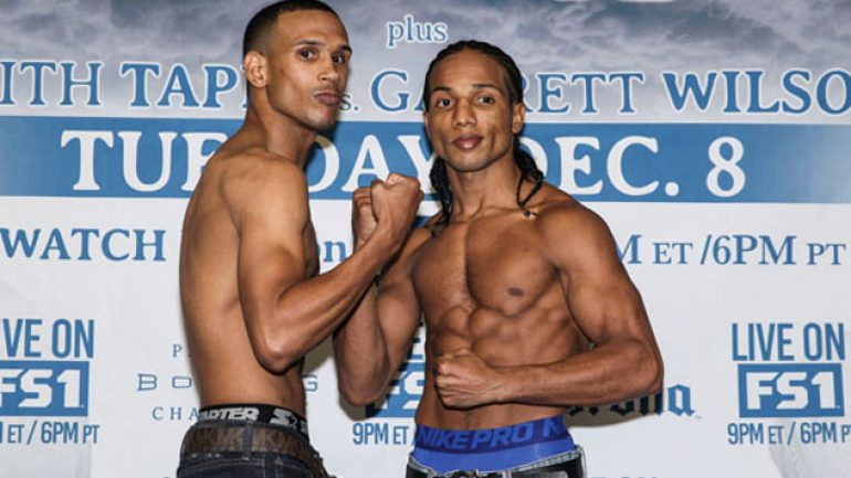 Dec. 8 PBC weigh-in photos and bout sheet