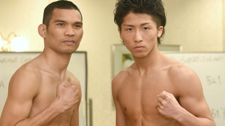 Weigh-in results and photos: Inoue-Parrenas, Mendoza-Yaegashi