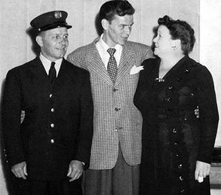 Frank Sinatra with his parents.