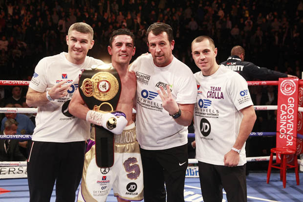 From left to right, Liam Smith, Anthony Crolla, Joe Gallagher and Scott Quigg. Photo: Getty Images