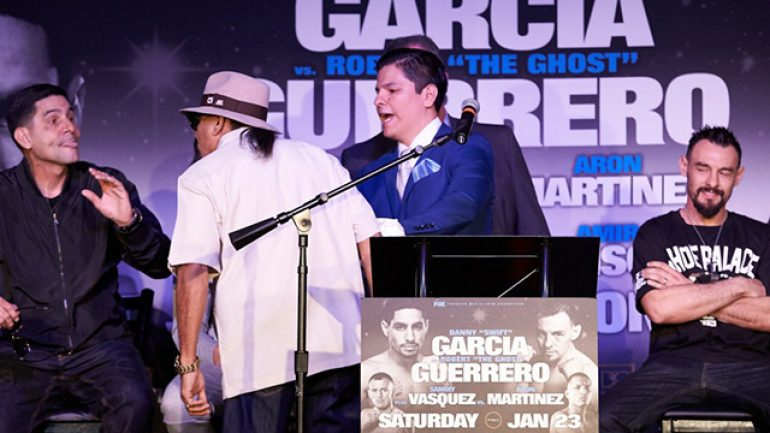 Father fracas highlights Garcia-Guerrero final presser
