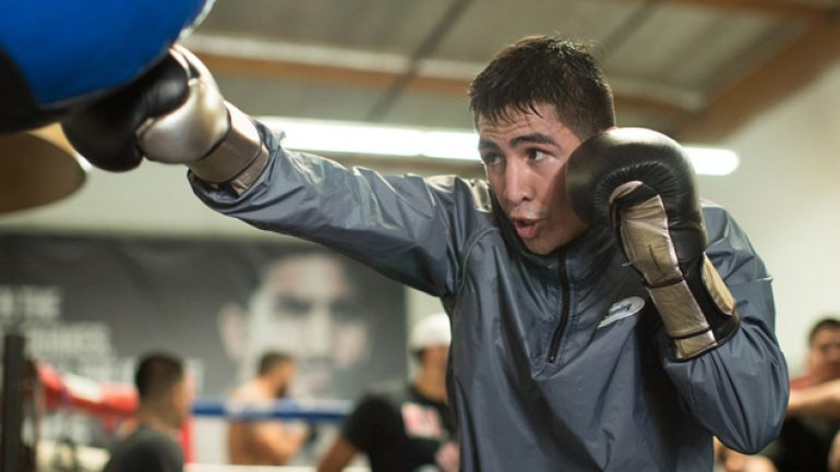 Photo gallery: Leo Santa Cruz open workout