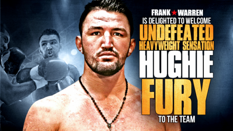 Undefeated heavyweight Hughie Fury signs with Frank Warren